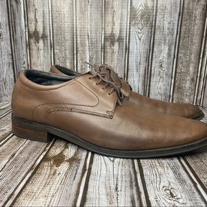 Vionic leather oxfords - brown - size 12